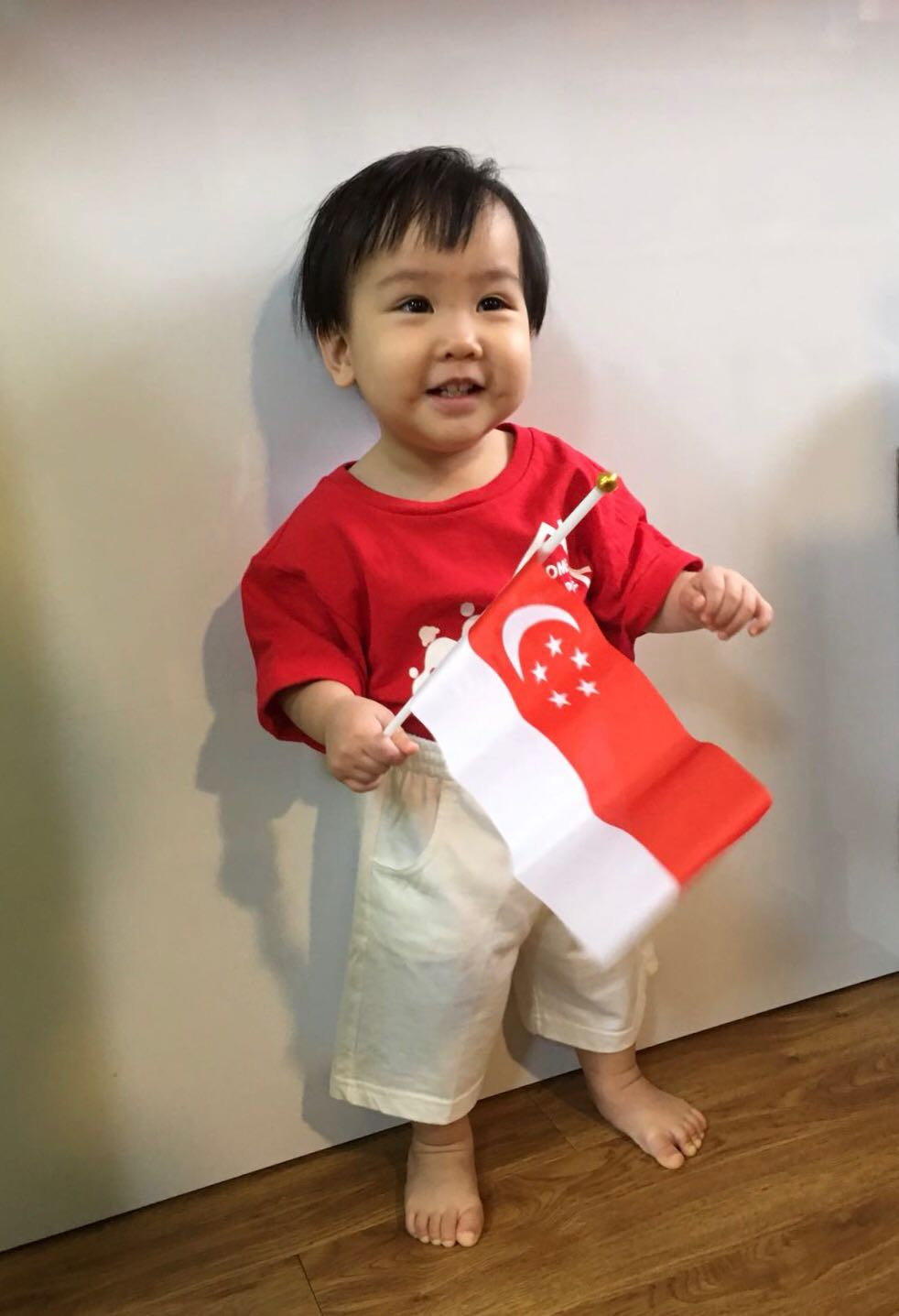 Baby with National Flag